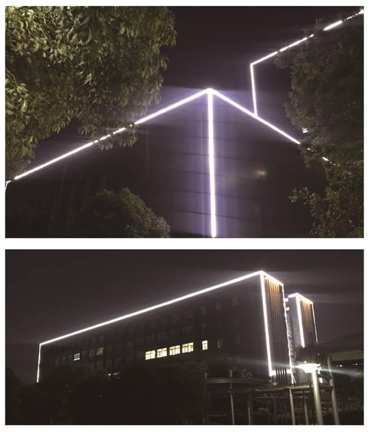 中国石化石油物探技术研究院楼体亮化